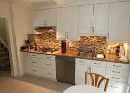 Decorative Stone Kitchen Backsplash With White Cabinets - White kitchen cabinets ideas