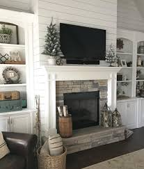 How to Decorate a Mantel with a TV It