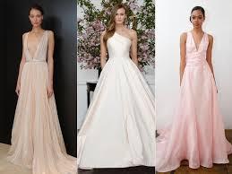 blush wedding dress trend the top wedding dress trends from 2016 bridal fashion week