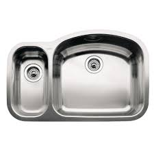 Inset Sinks Kitchen Stainless Steel by Blanco Wave Undermount Stainless Steel 32 In Reverse 1 1 2 Basin