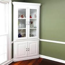 White Corner Cabinet With Doors Corner Glass Door Cabinet Kitchen Corner Cabinet With Glass Door