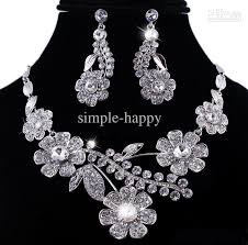 platinum jewelry necklace images 2018 jewelry sets fashion platinum plated simulated diamond alloy jpg