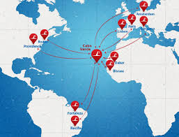 cape verde map world tacv cabo verde airlines arrives at t f green airport in