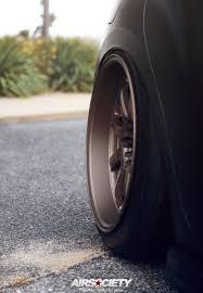 subaru matte black subaru sti matte black work wheels bagged air suspension air rex