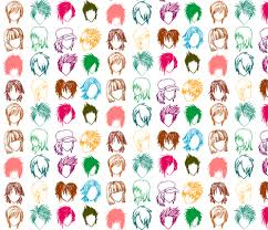 anime wrapping paper anime hairstyles fabric ancapandrea spoonflower