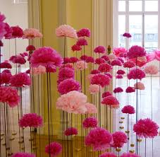 Decoration De Ballon Pour Mariage N 1 En Décoration Pompons En Papier De Soie Hello Pompon