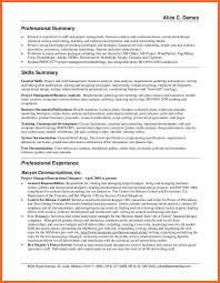 resume summary example general templates