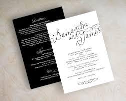 wedding invitations simple simple black and white wedding invitations sunshinebizsolutions