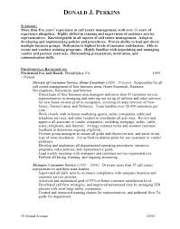 Sample Resume For Customer Service Representative Call Center by Free Sample Resume For Call Center Manager Templates