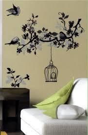 monochrome bird cage black white wall sticker vinyl transfer monochrome bird cage black white wall sticker vinyl transfer mural art