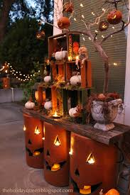 outside halloween crafts home depot outdoor pumpkin luminaries fall halloween designs