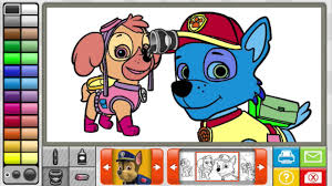 hq paw patrol u0026 peter rabbit coloring sticker book full game