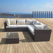 Outdoor Sofa With Chaise Supernova Outdoor Patio 6pc Sectional Furniture Wicker Sofa Set