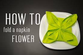 paper napkin flower tutorial how to fold a napkin into a flower youtube