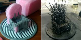 Homemade Phone Stand by Game Of Phones Makes A Mini Diy Iron Throne Stand For Her