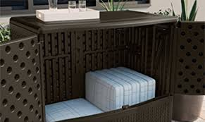 Backyard Storage Containers Suncast Storage Boxes Outdoor Furniture