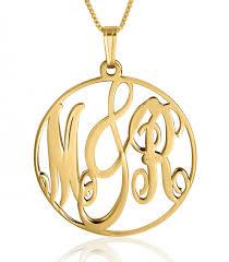 gold monogram necklace 14k gold monogram necklace framed monogram namefactory