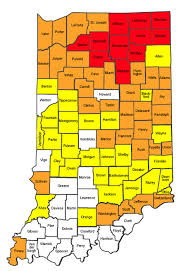 Indiana travel pictures images Paul poteet dot com indiana county travel status map from jpg