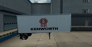 kenworth truck logo two different kenworth trailers mod american truck simulator mod