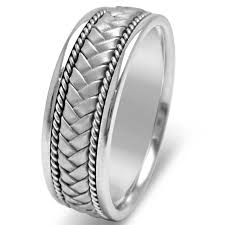 mens comfort fit wedding bands white gold braided men s comfort fit wedding band m123wg