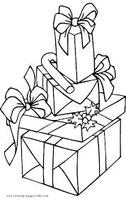 christmas coloring christmas presents