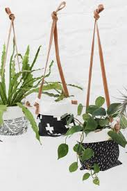 hanging soft pots with genuine leather strap zana products
