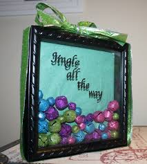 diy jingle bell holiday shadow box craft holiday pinterest