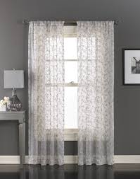 Embroidered Sheer Curtains Lanai Floral Embroidered Sheer Curtain Panel Curtainworks