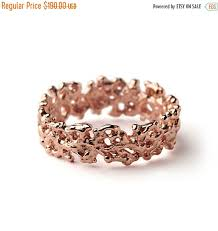 Rose Gold Wedding Rings by Christmas Sale Coral Rose Gold Wedding Band Ring Men U0027s Wedding