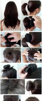 when were doughnut hairstyles inverted how to use a hair donut hair tutorial mustard seed family blog