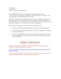 Non Disclosure Statement Template by Disclosure Form Version