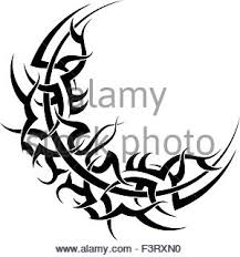 tattoo moon design vector art stock vector art u0026 illustration