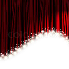 Theater Drape Red Theater Curtain With Stars Stock Photo Colourbox