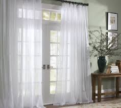 Sheer Off White Curtains Classic Voile Sheer Drape Pottery Barn