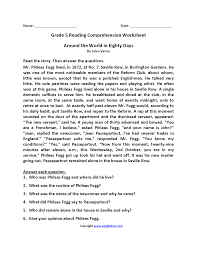 100 reading comprehension worksheets for 5th grade free
