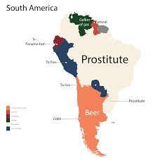 Latin America Countries Map by The Most Googled Product In Every Country