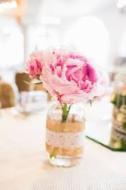 jar flower centerpieces 10 peony centerpieces mywedding
