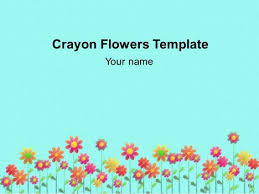 crayon flowers background template