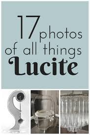 17 photos of all things vintage lucite estate sale blog