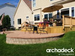 wood deck and brick patio in palatine illinois u2013 outdoor living