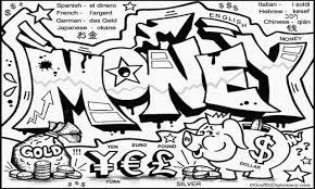 money drawings graffiti black and white graffiti art