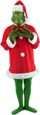 grinch costume dr seuss santa grinch costume with mask tunic