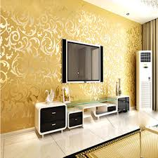10mx53cm wallpaper rolls silver golden apricot luxury embossed