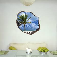 stickers trompe oeil mural sticker muraux trompe l u0027oeil sticker mural palm et le ciel dans