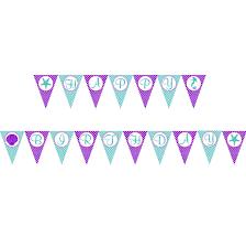ariel party banner ariel inspired printable diy happy birthday