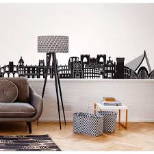 wall decals myvinilo city skyline wall decals cityscape wall vinilo valencia skyline