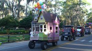 disney u0027s fort wilderness halloween golf cart parade 2012