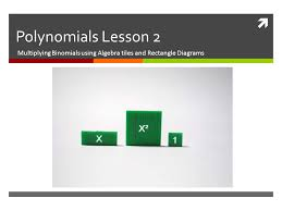 polynomials lesson 2 multiplying binomials using algebra tiles and