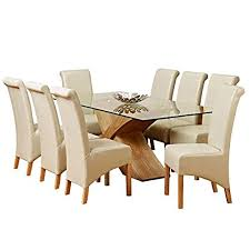 8 chair dining table table with 8 chairs amazon co uk