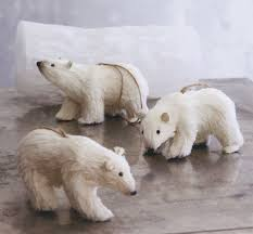 decorative polar bears ornaments set of 3 nova68